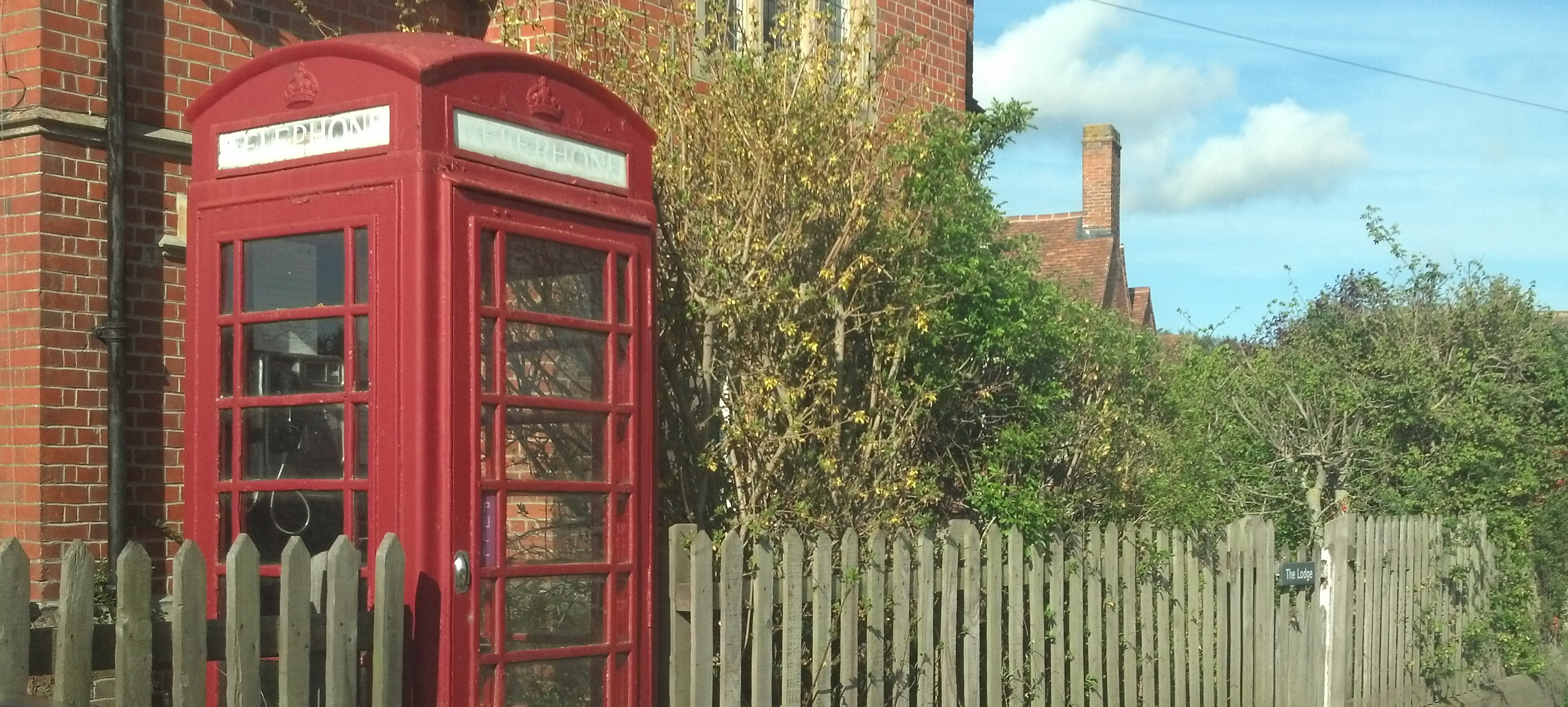 Telephone box, Mapledurham, south Oxfordshire, UK