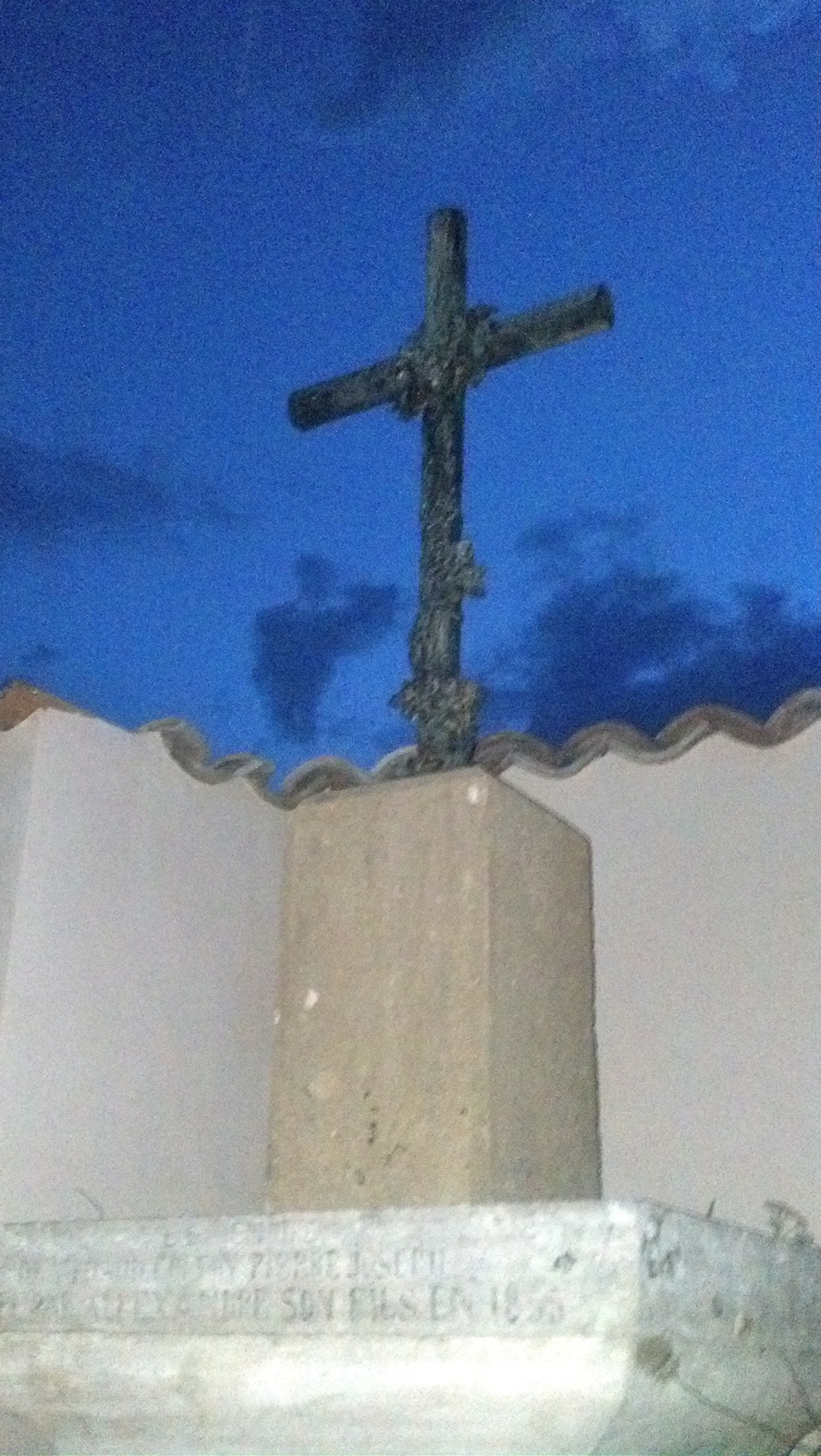 French roadside cross